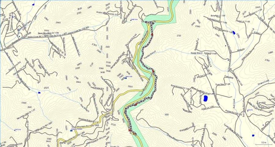 Craven Gap Trail (South) Map | Western Carolina Botanical Club on gap dayton map, gap bike path map, oklahoma atv trails map, fulda gap map, delaware water gap map,