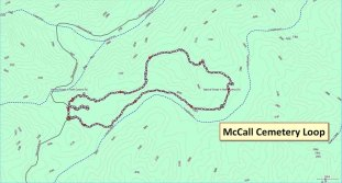 McCall Cemetery Loop Map