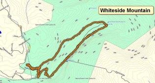 Whiteside Mountain Map
