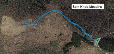 Sams Knob Meadow Map