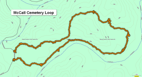 McCall Cemetery Loop Map (Scout)