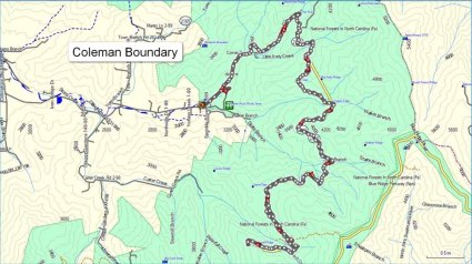 Coleman Boundary - Our Route