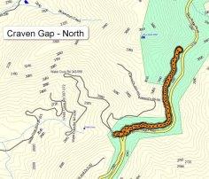 Craven Gap North Map