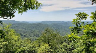 View from Wet Camp Gap