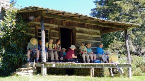 Lunch Bunch at the Ferguson Cabin