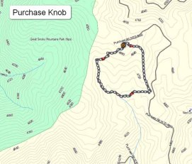 Purchase Knob Map - Our Route
