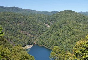 View of Lower Whitewater Falls when dryish 10/18/19