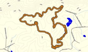Homes State Forest - Upper Trail Map