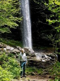 The Hike Leader at Douglas Falls