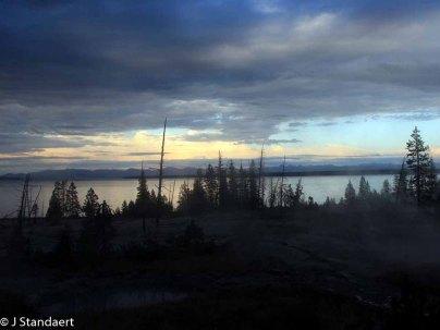 West Thumb Geyser Basin - Lake Yellowstone